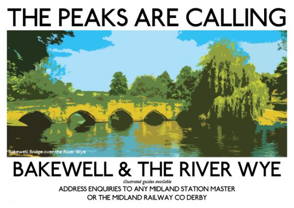Bakewell Bridge Retro Poster
