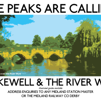 Bakewell Bridge Retro Poster