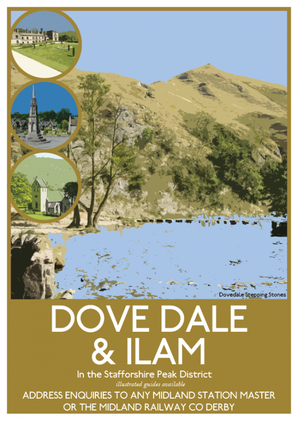 Dovedale and Ailam Poster